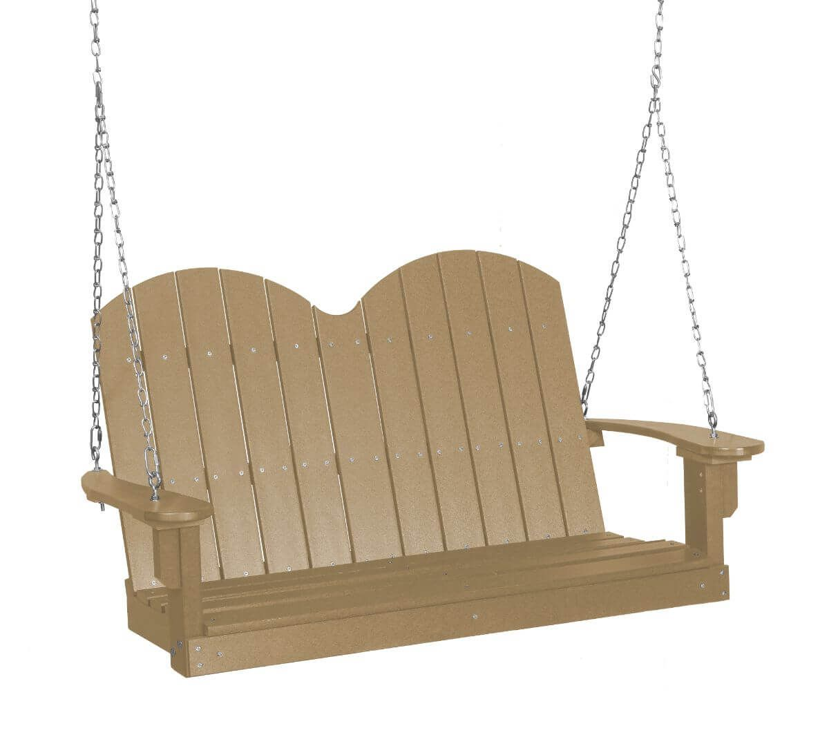 Weathered Wood Green Bay Outdoor Swing