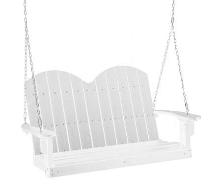 White Green Bay Outdoor Swing