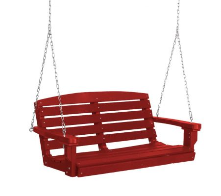 Cardinal Red Green Bay Porch Swing