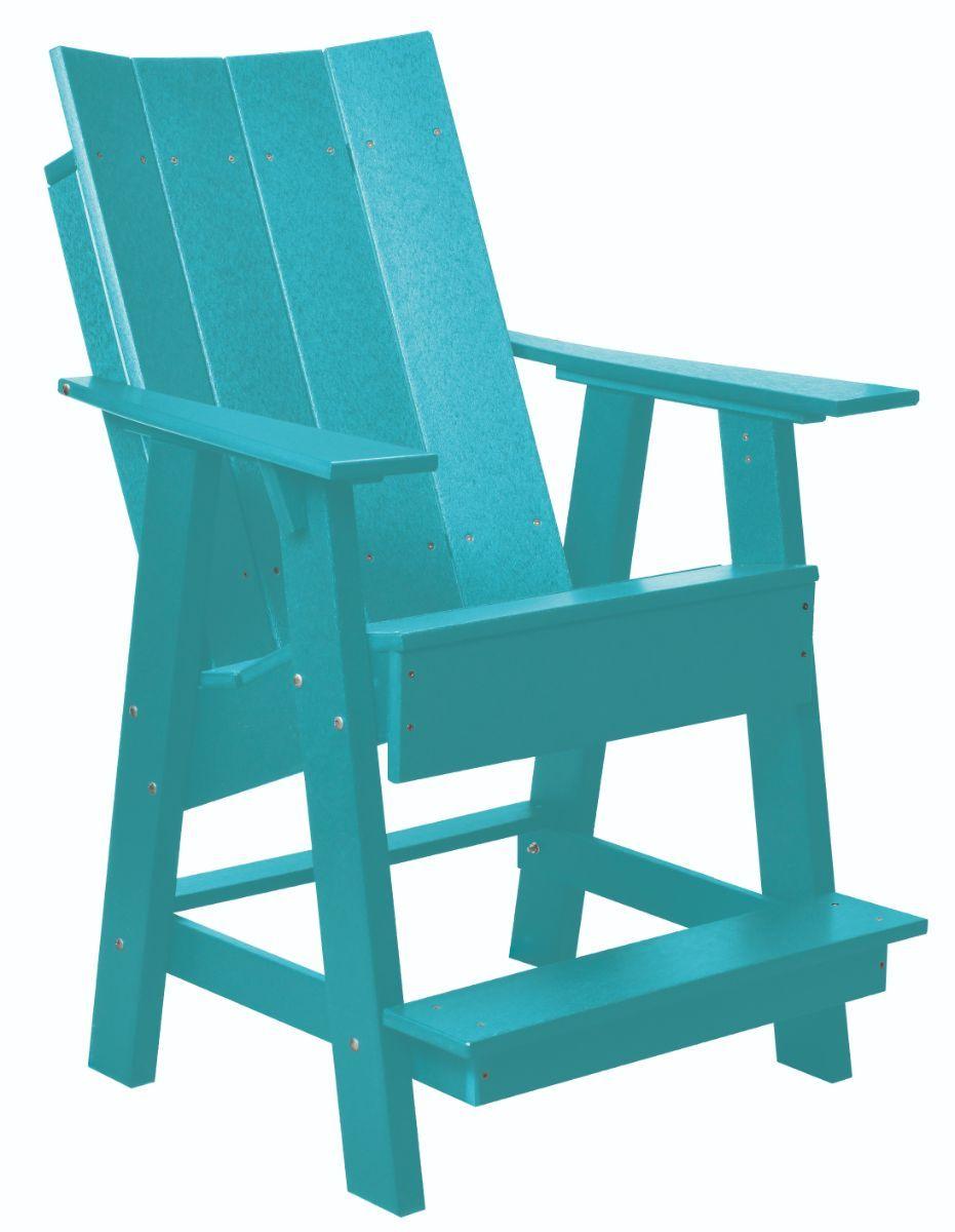Aruba Blue Mindelo High Adirondack Chair