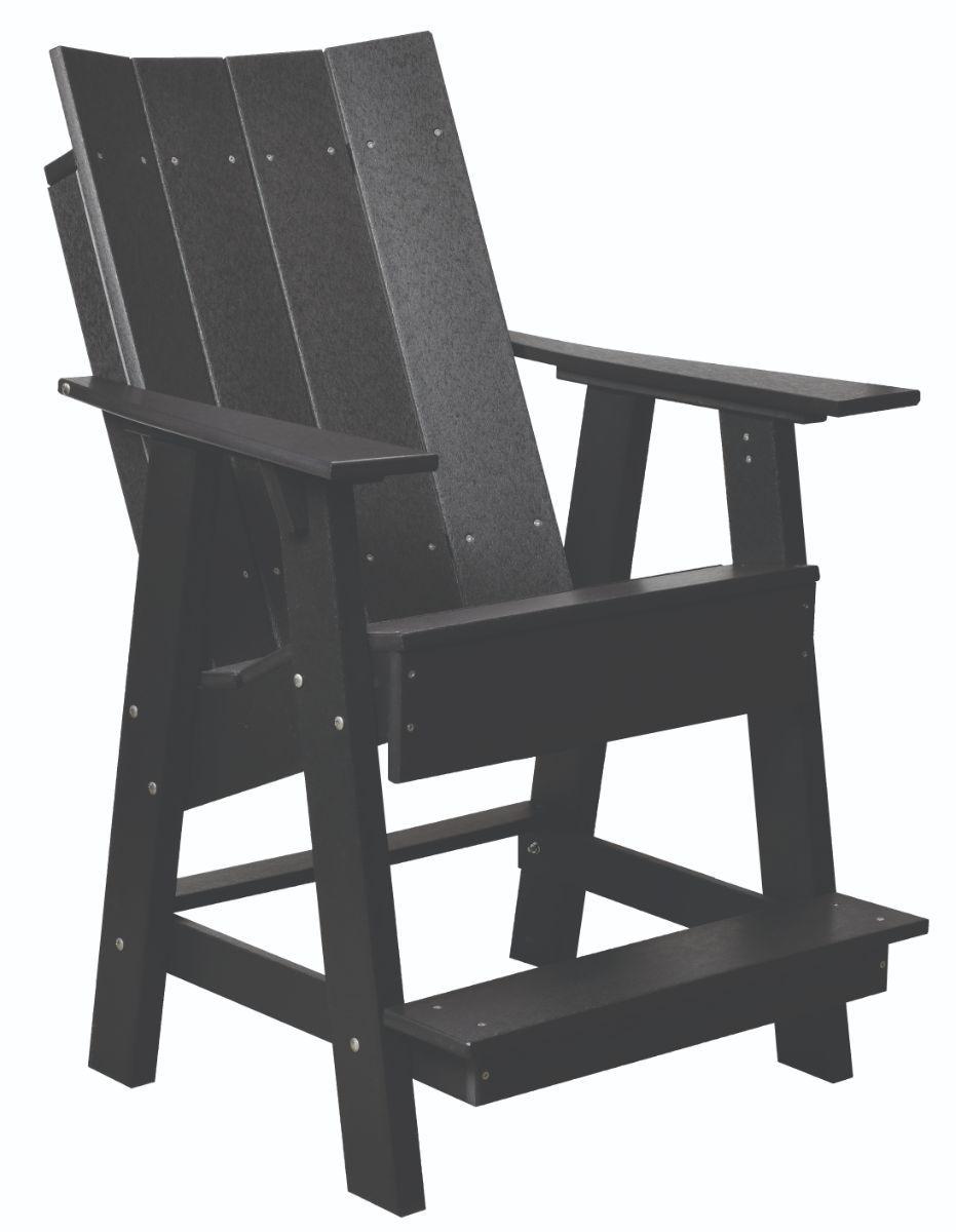 Black Mindelo High Adirondack Chair