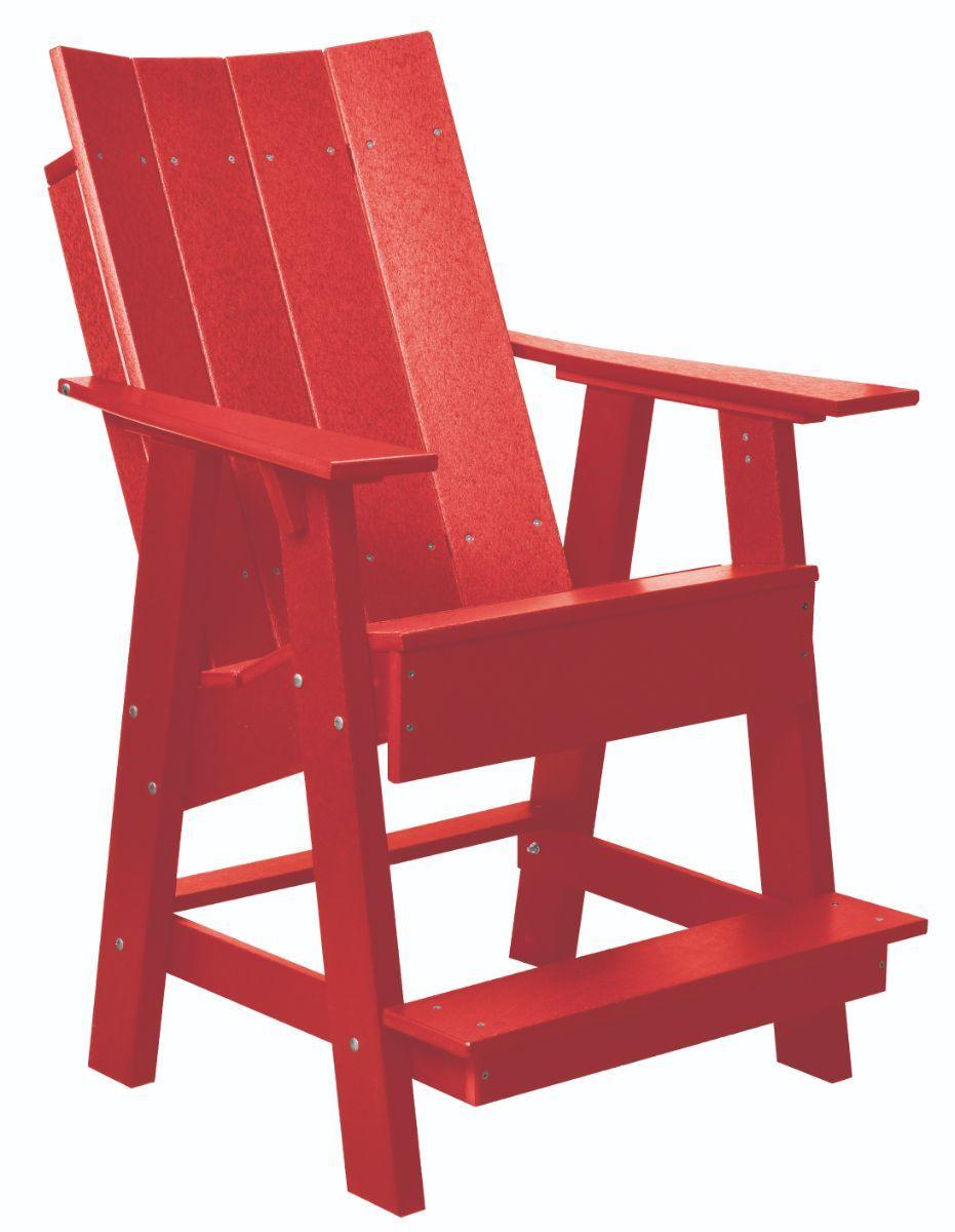 Bright Red Mindelo High Adirondack Chair