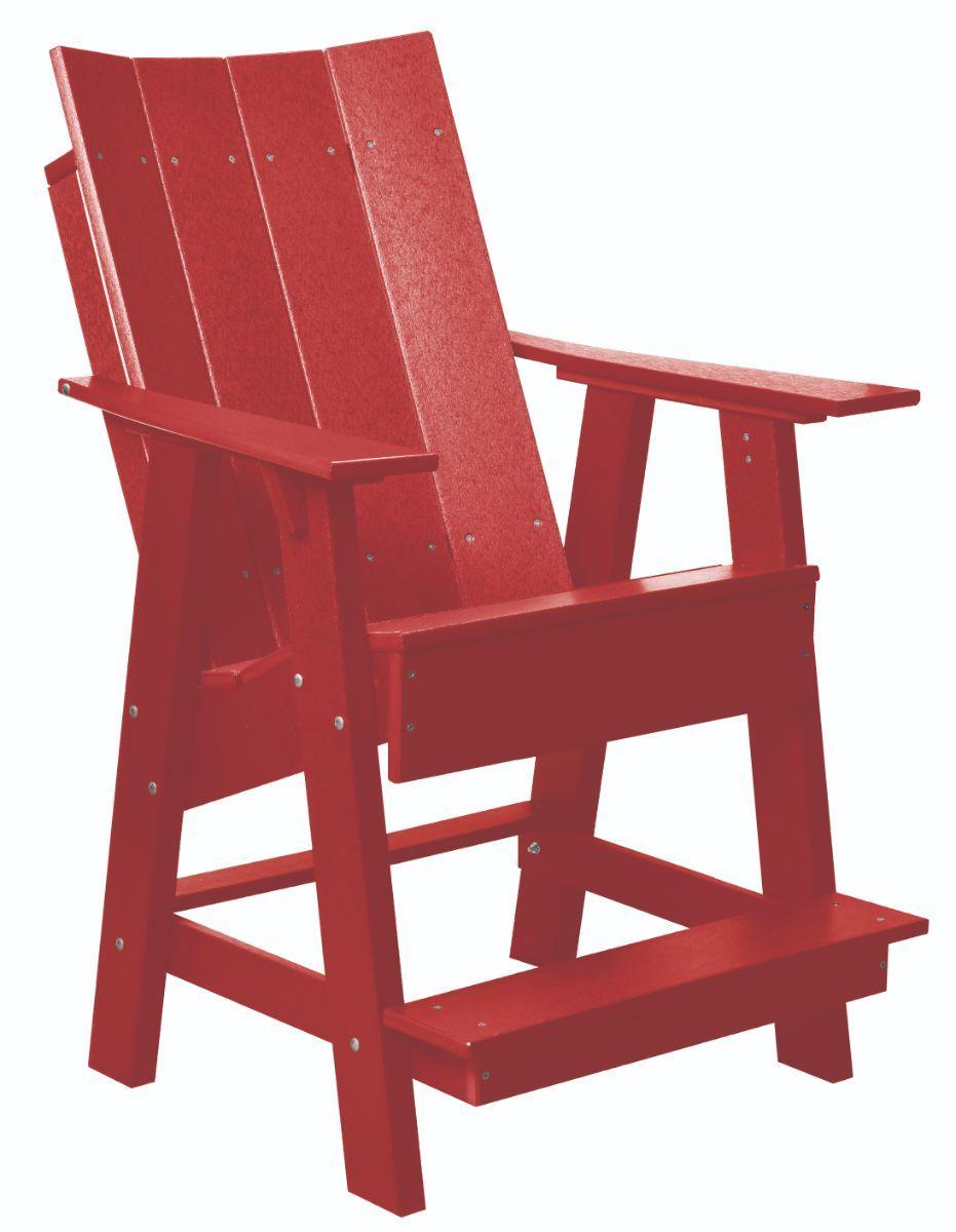 Cardinal Red Mindelo High Adirondack Chair