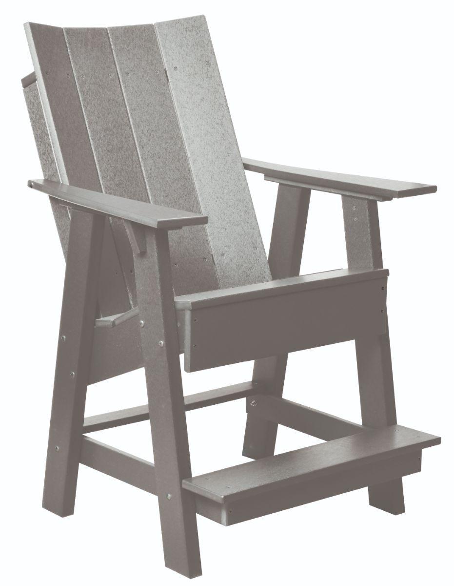 Light Gray Mindelo High Adirondack Chair