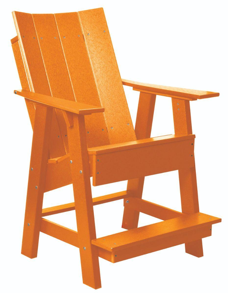 Orange Mindelo High Adirondack Chair