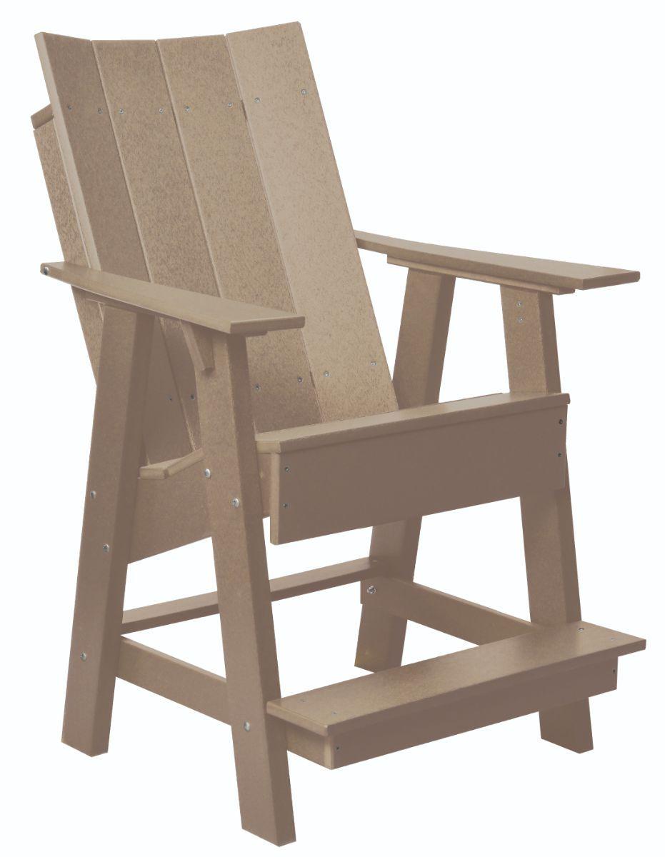 Weathered Wood Mindelo High Adirondack Chair