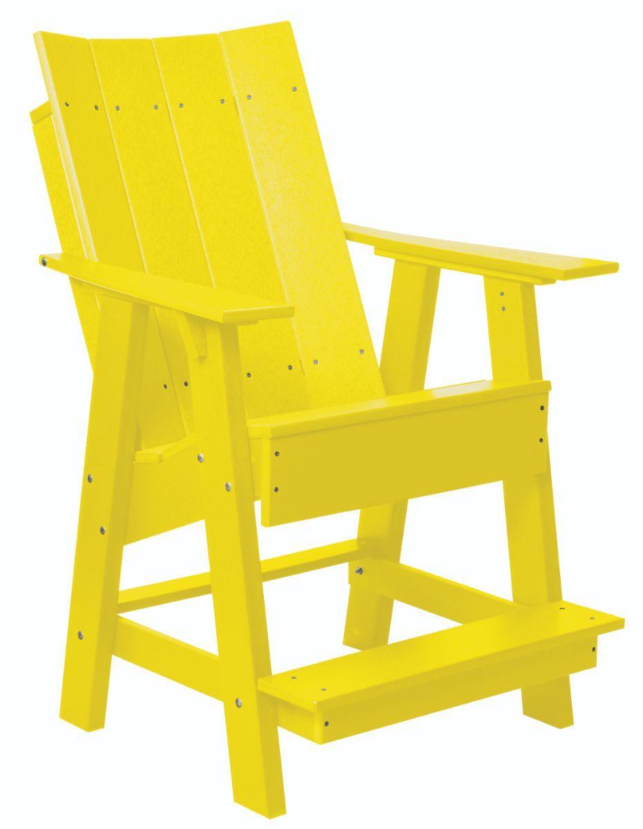 Lemon Yellow Mindelo High Adirondack Chair
