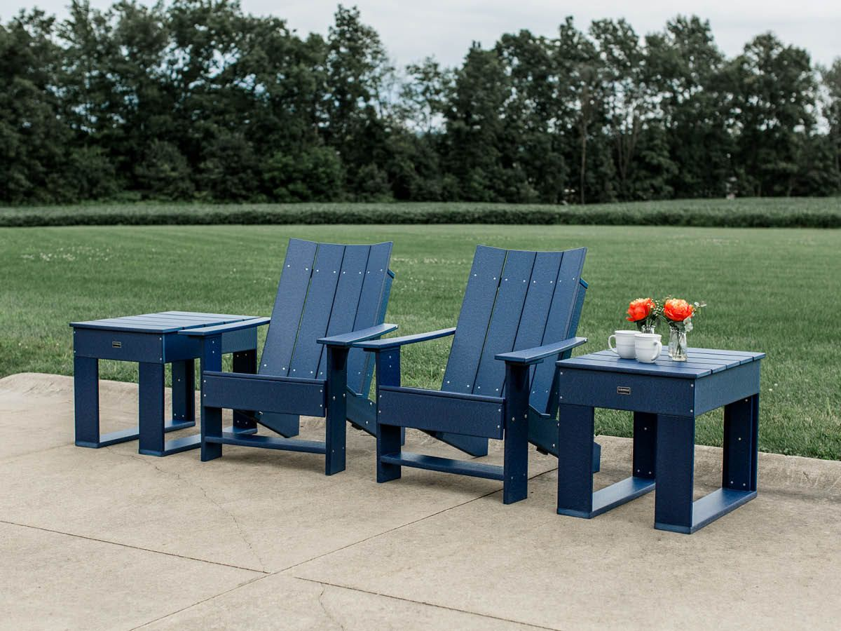 Mindelo Adirondack Chair and End Table