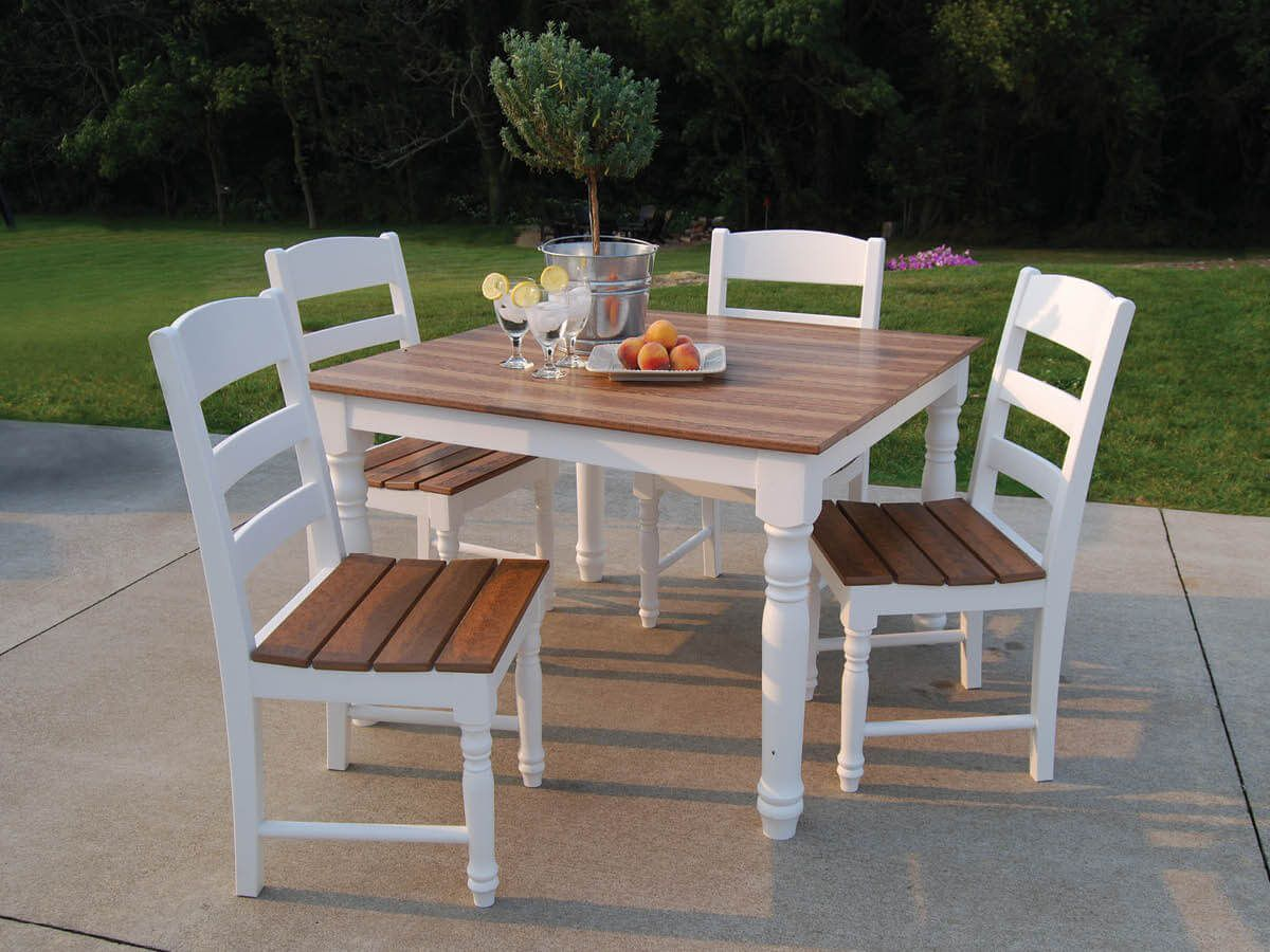 Farmhouse Patio Dining Table and Chairs