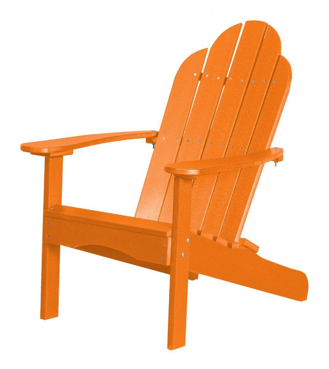Bright Orange Odessa Adirondack Chair
