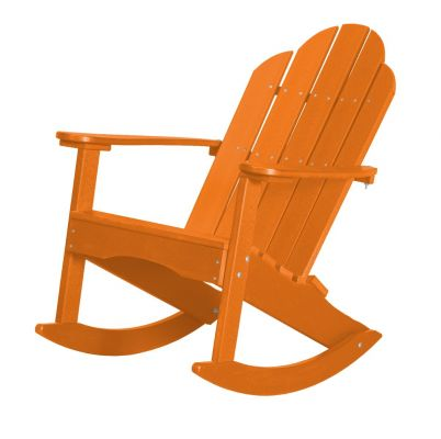Bright Orange Odessa Adirondack Rocker