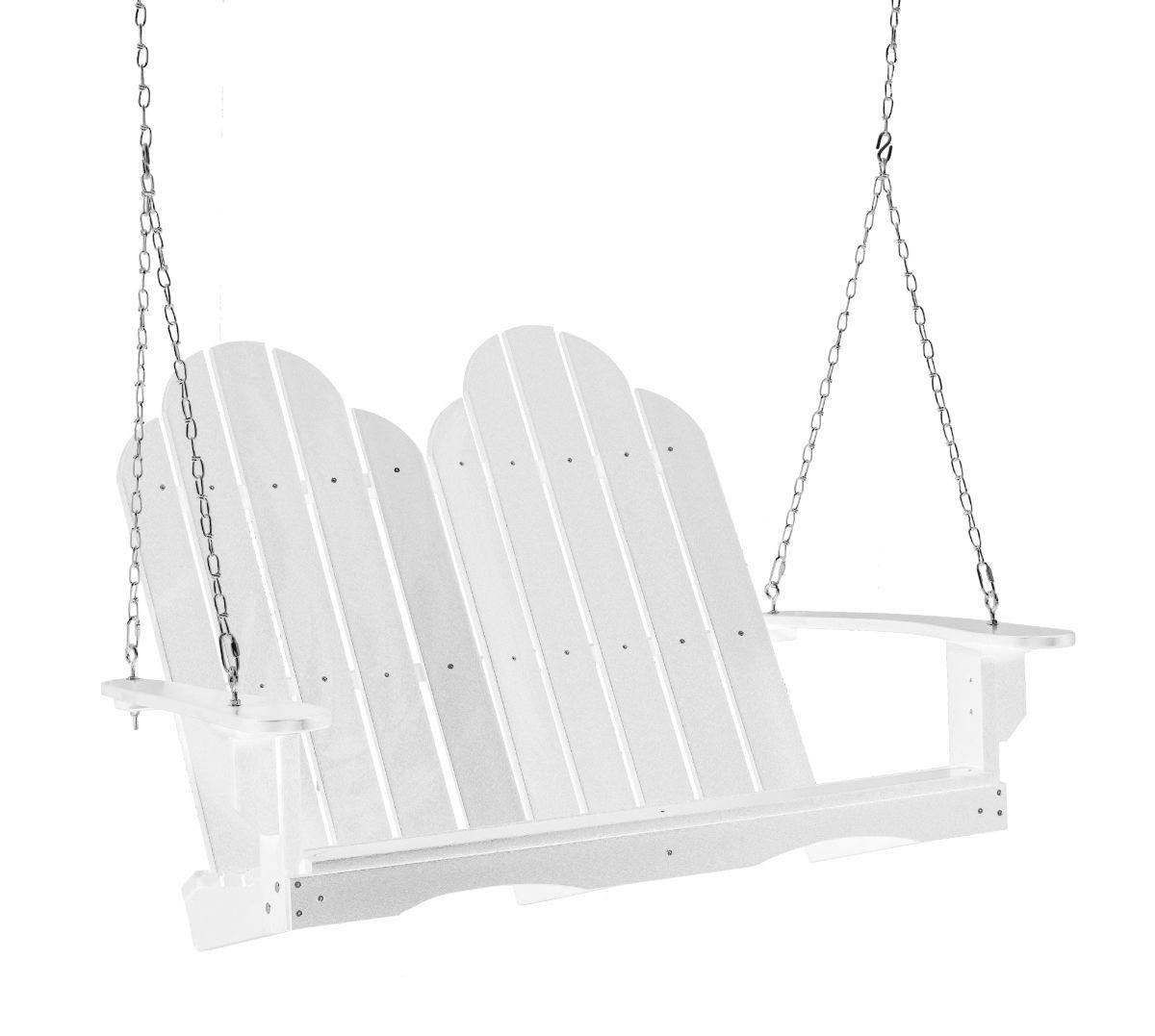 White Odessa Adirondack Swing