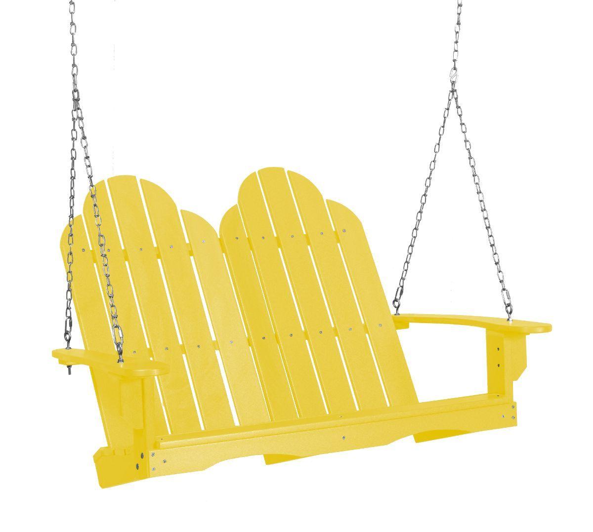 Lemon Yellow Odessa Adirondack Swing
