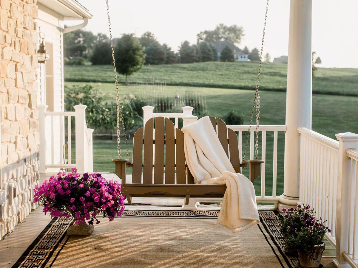 Hanging Poly Lumber Porch Swing