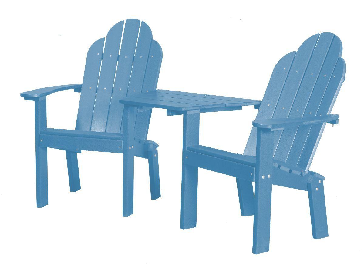 Powder Blue Odessa Outdoor Conversation Set