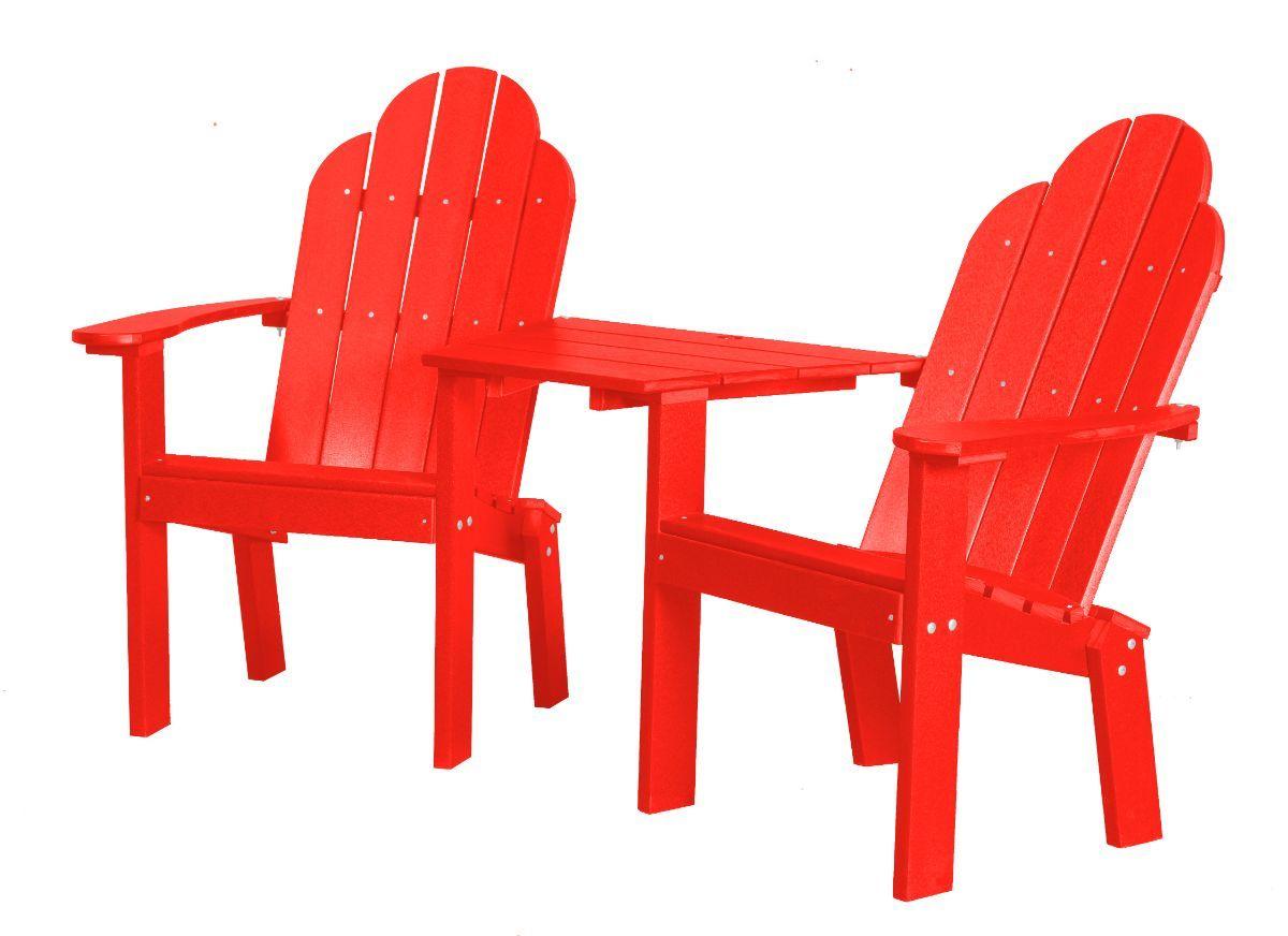 Bright Red Odessa Outdoor Conversation Set