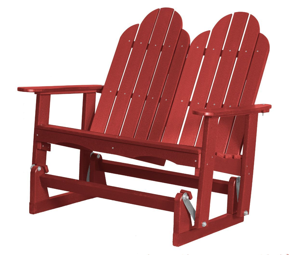 Cardinal Red Odessa Double Adirondack Glider