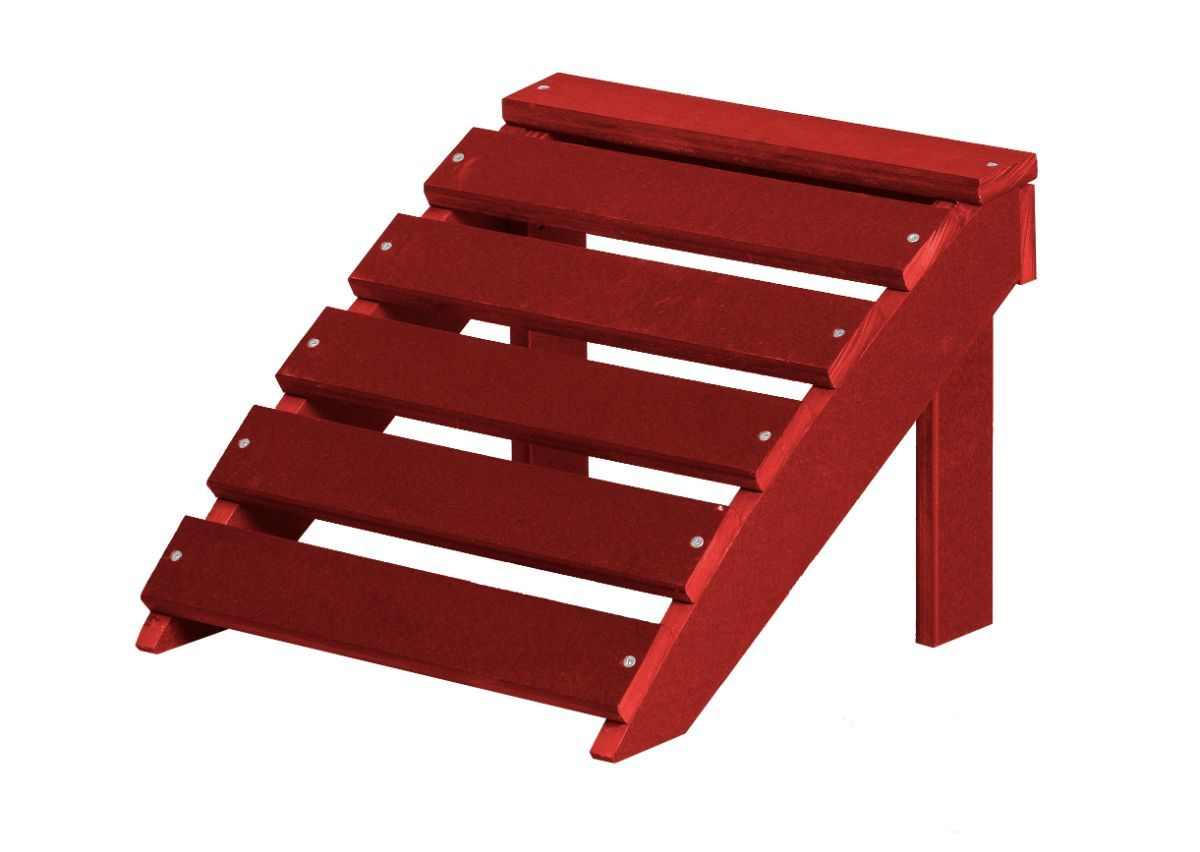 Cardinal Red Odessa Outdoor Footrest