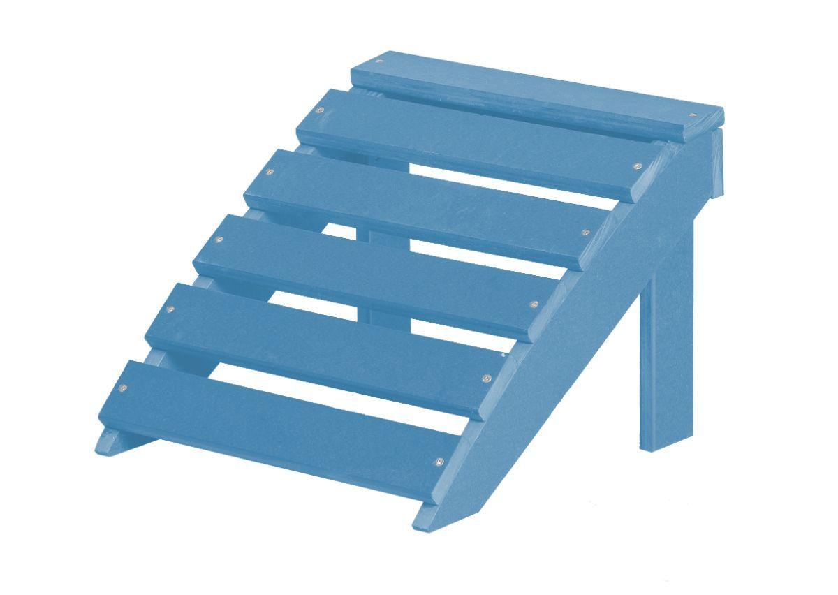 Powder Blue Odessa Outdoor Footrest