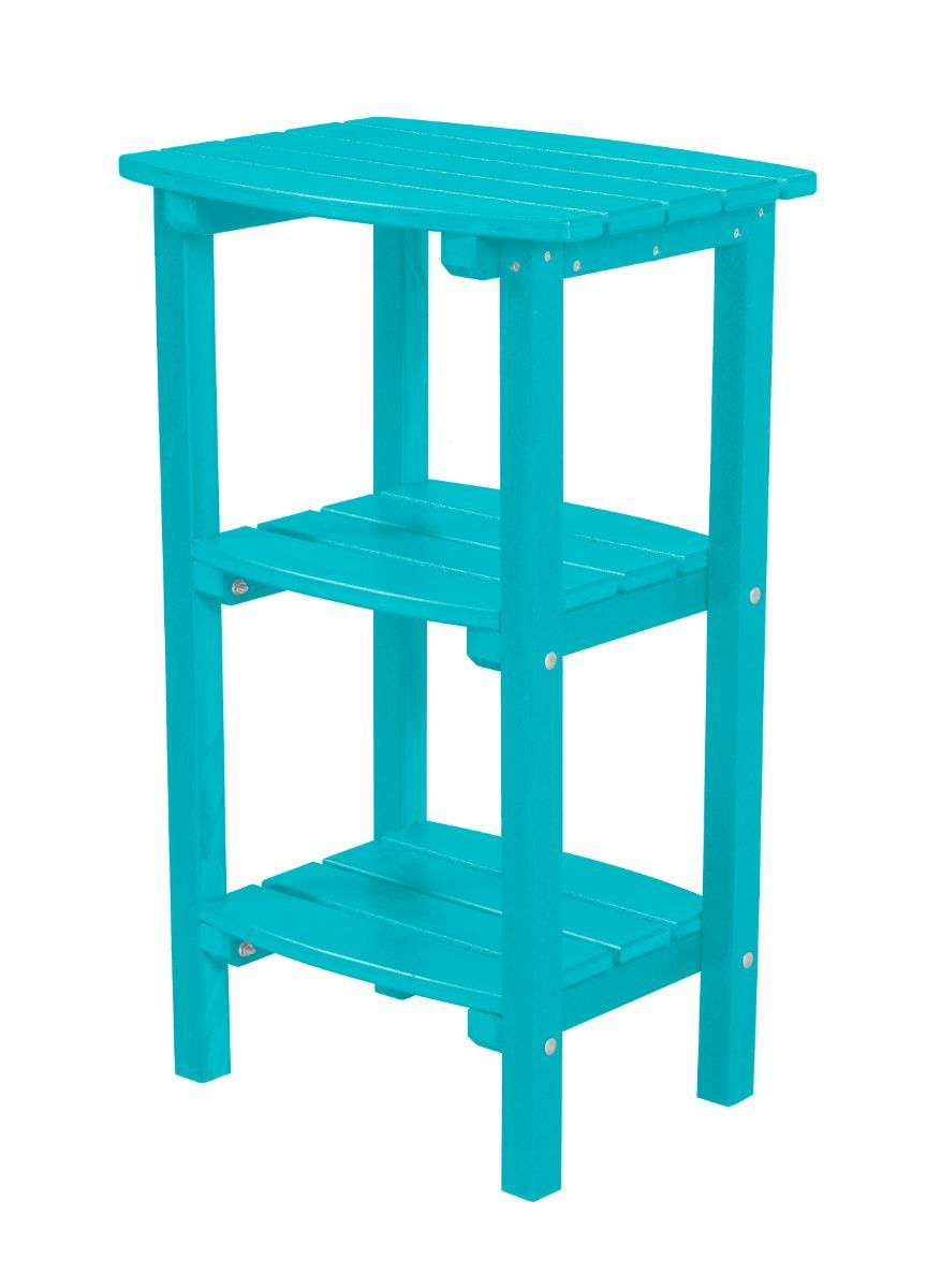 Aruba Blue Odessa Outdoor High Side Table