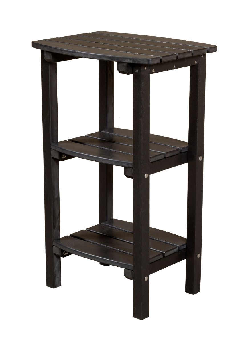 Black Odessa Outdoor High Side Table