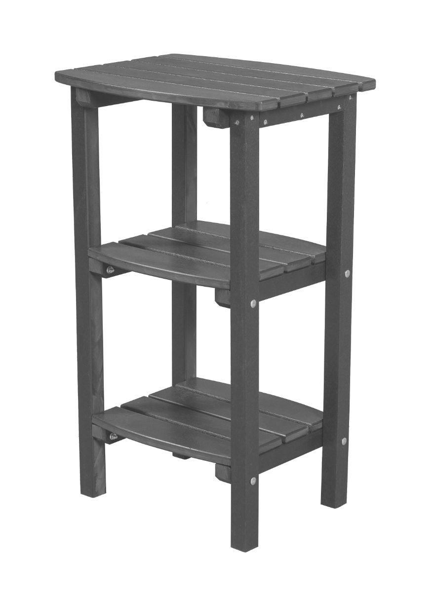 Dark Gray Odessa Outdoor High Side Table