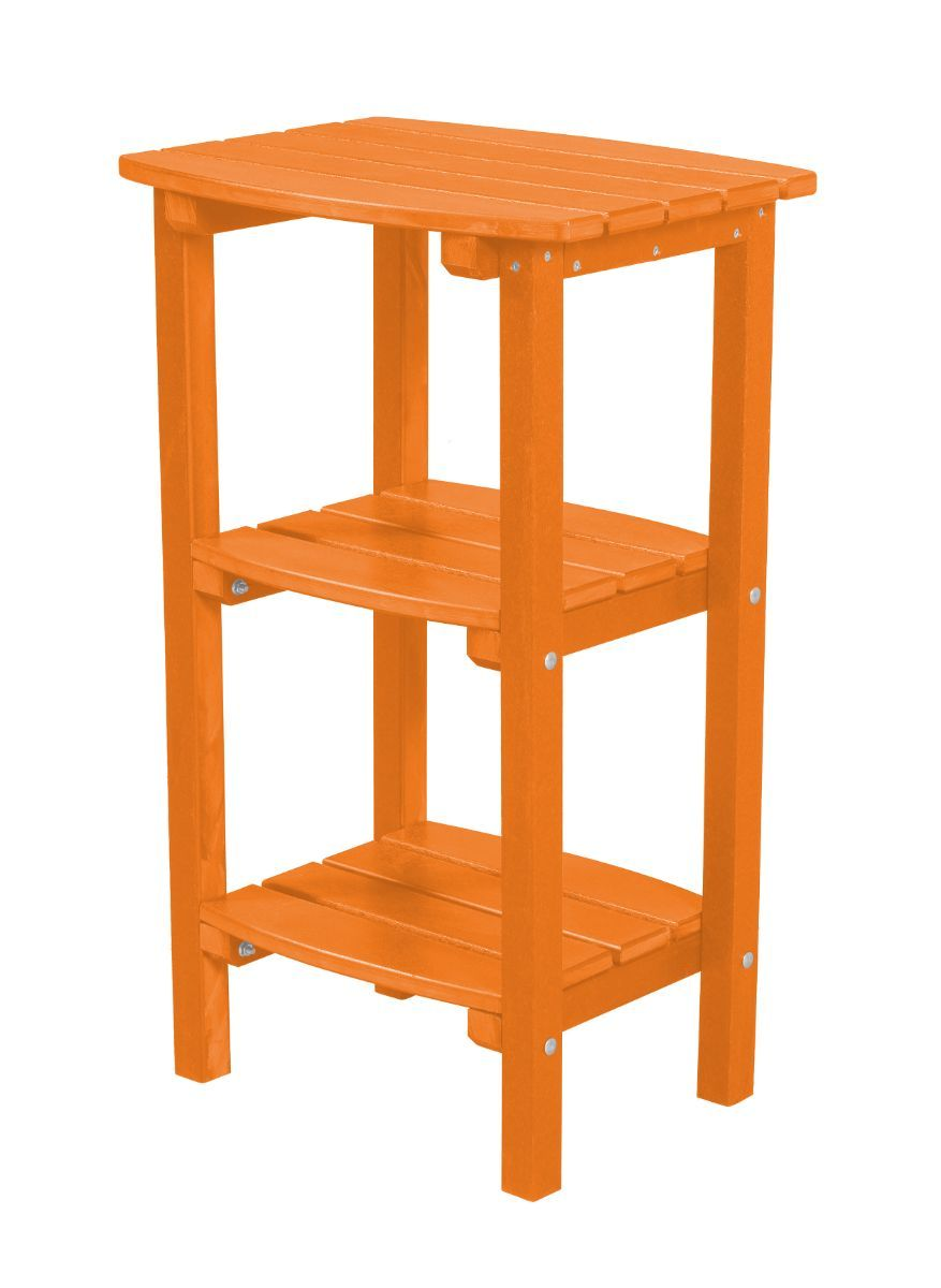 Bright Orange Odessa Outdoor High Side Table