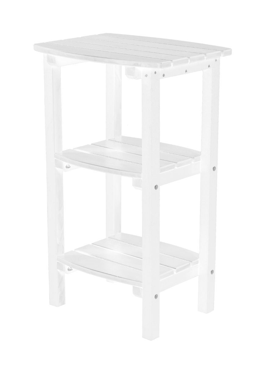 White Odessa Outdoor High Side Table
