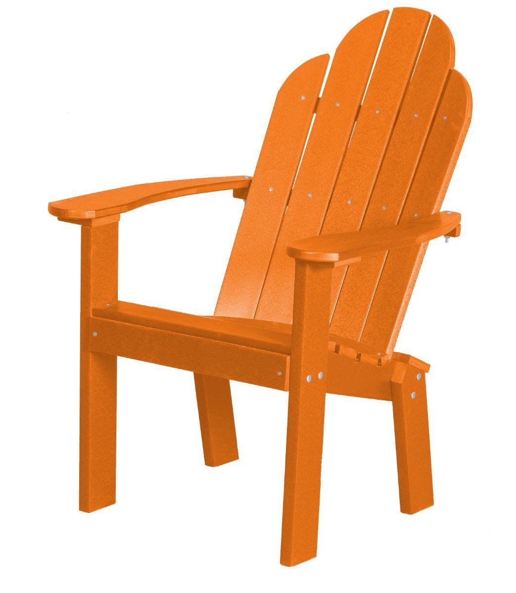 Bright Orange Odessa Outdoor Dining Chair