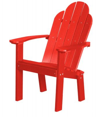 Bright Red Odessa Outdoor Dining Chair