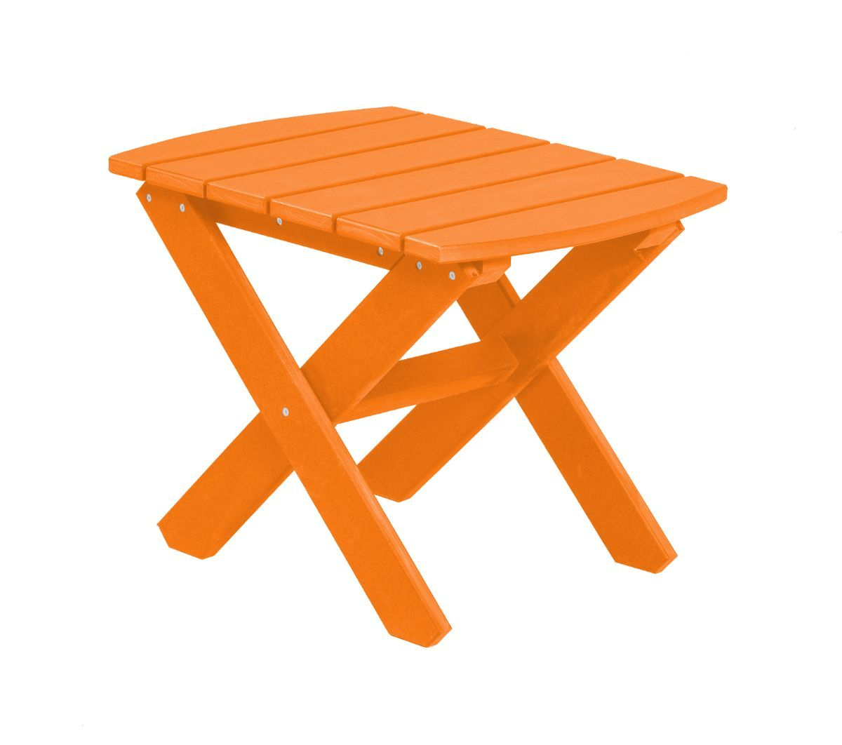 Bright Orange Odessa Outdoor End Table
