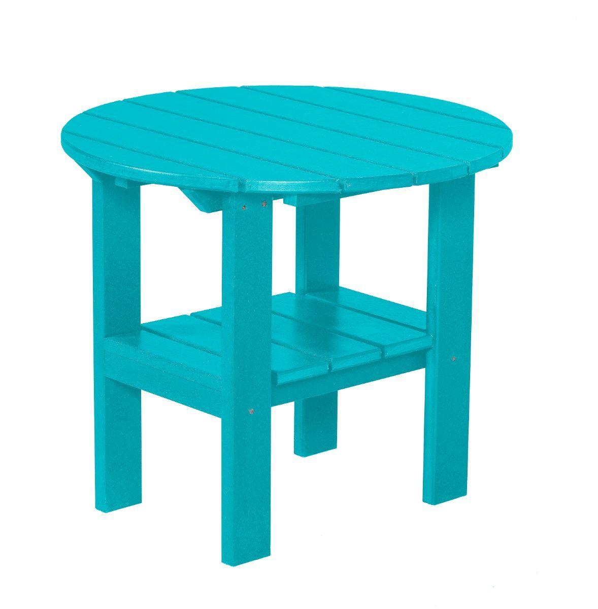 Aruba Blue Odessa Round Outdoor Side Table