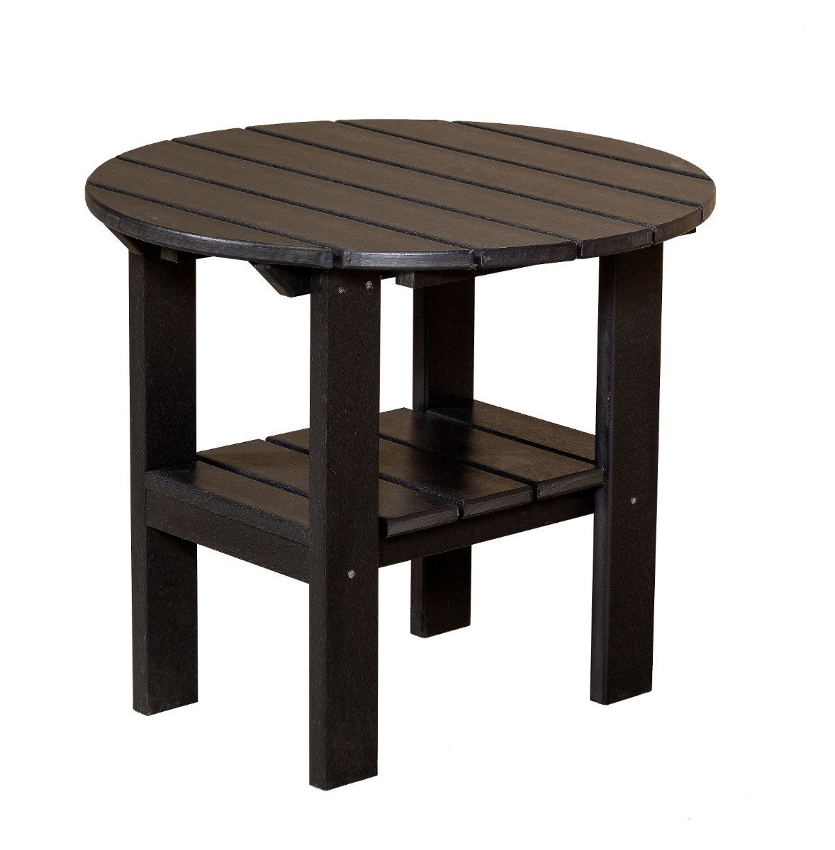 Black Odessa Round Outdoor Side Table