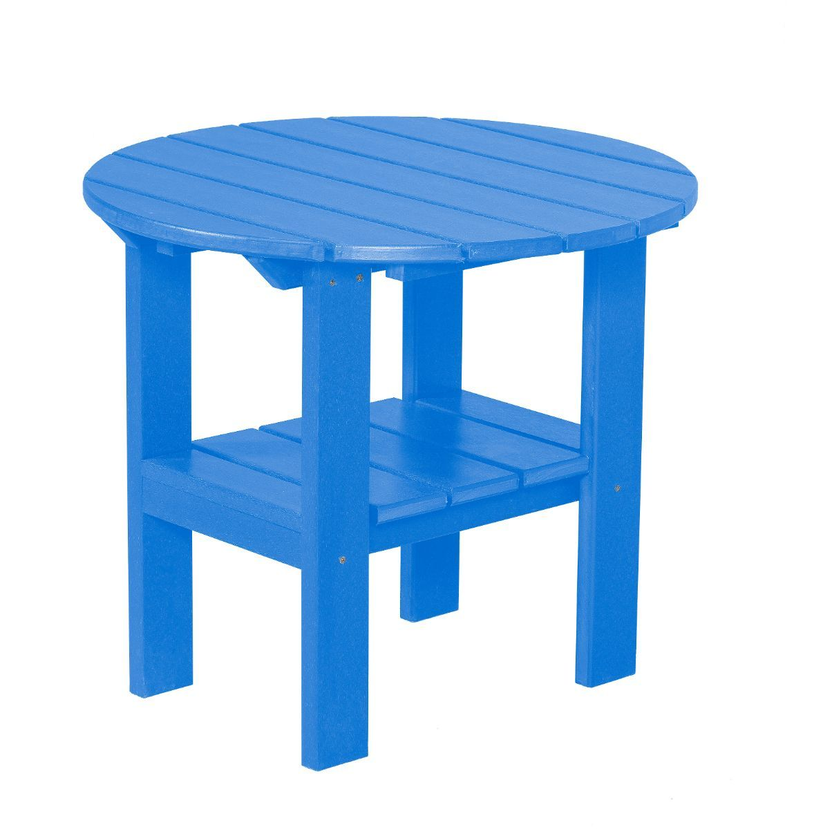 Blue Odessa Round Outdoor Side Table