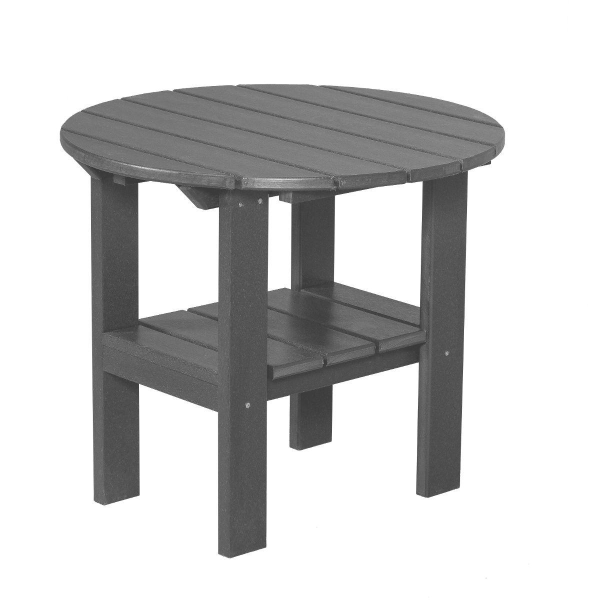 Dark Gray Odessa Round Outdoor Side Table