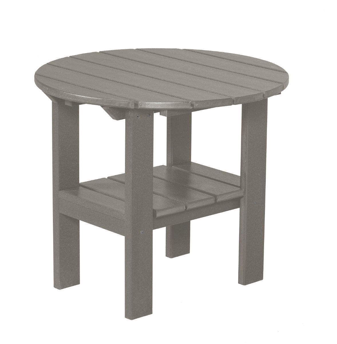 Light Gray Odessa Round Outdoor Side Table