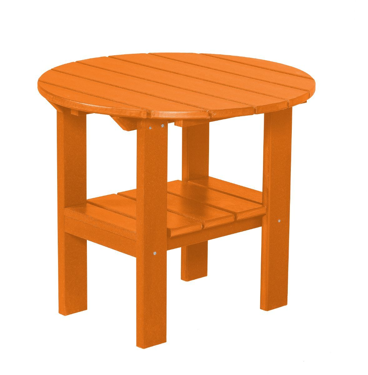 Bright Orange Odessa Round Outdoor Side Table