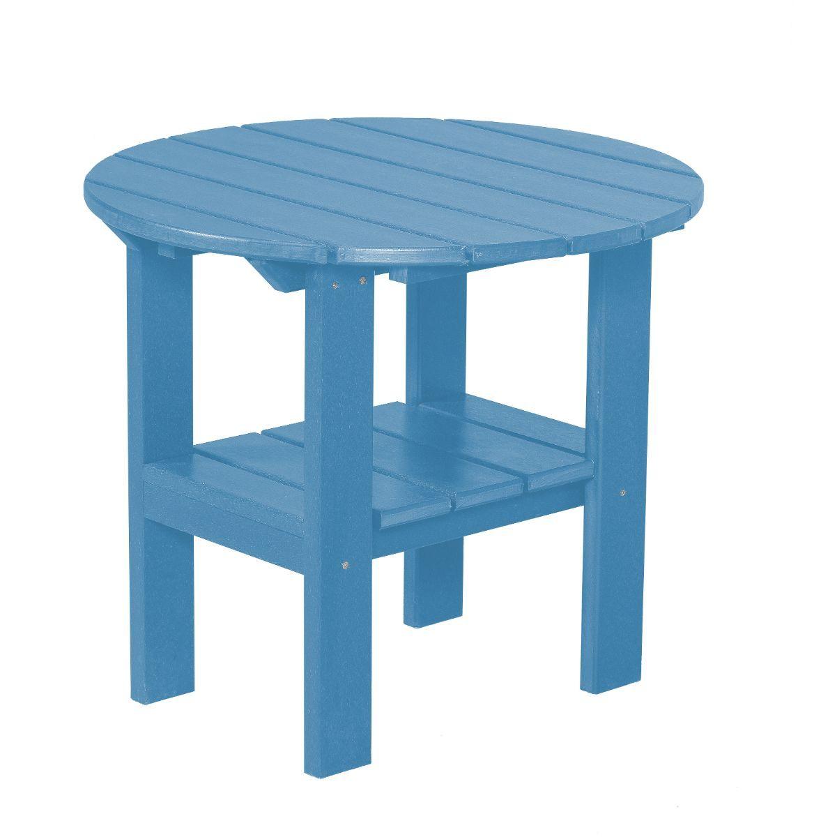 Powder Blue Odessa Round Outdoor Side Table