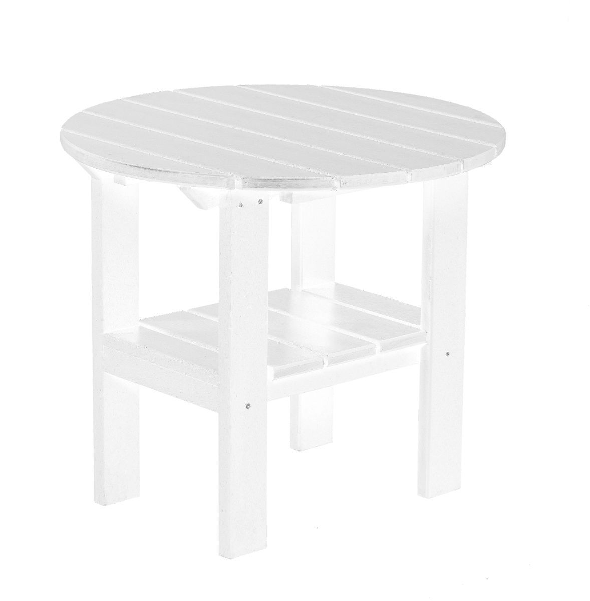 White Odessa Round Outdoor Side Table