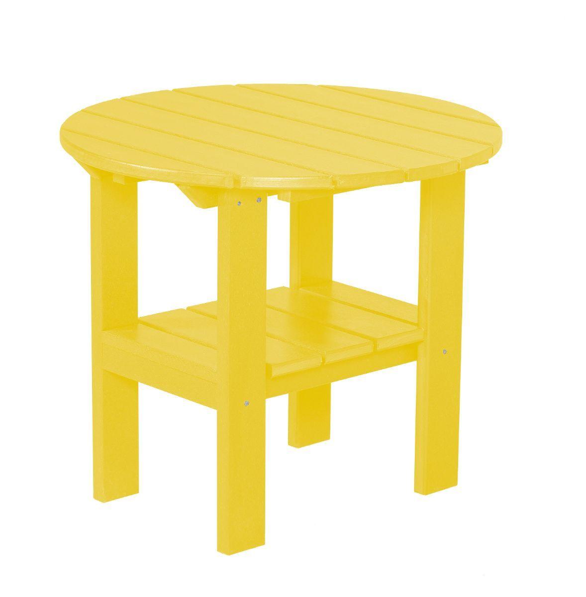 Lemon Yellow Odessa Round Outdoor Side Table