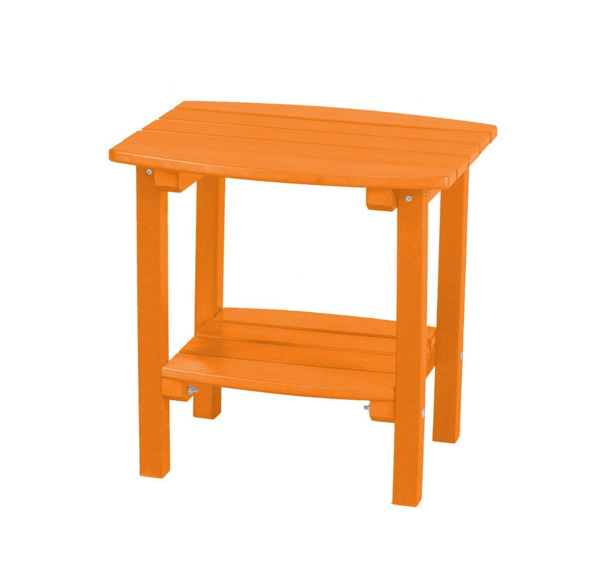 Bright Orange Odessa Small Outdoor Side Table
