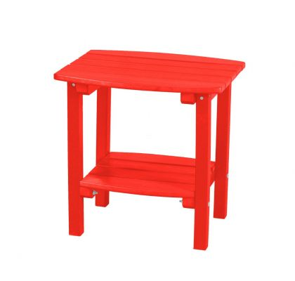 Bright Red Odessa Small Outdoor Side Table