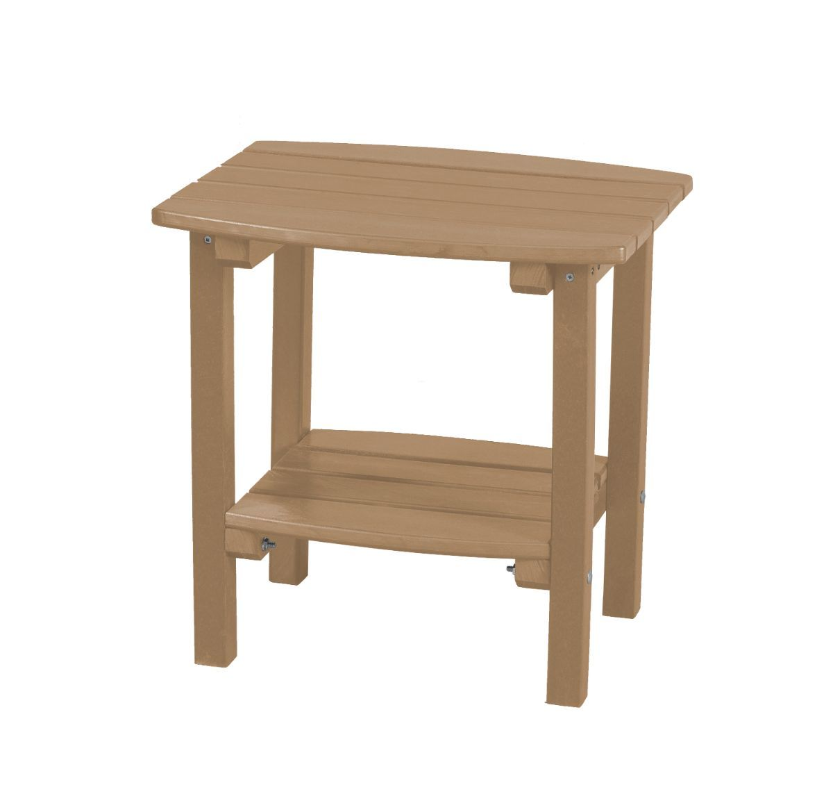 Weathered Wood Odessa Small Outdoor Side Table