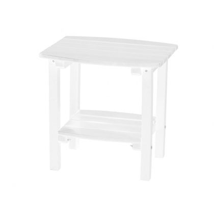 White Odessa Small Outdoor Side Table