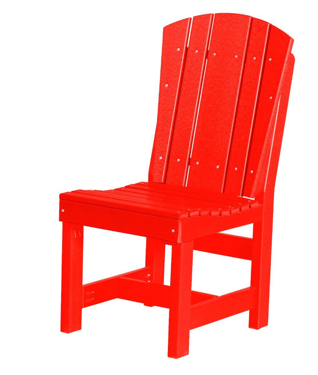 Bright Red Oristano Outdoor Dining Chair