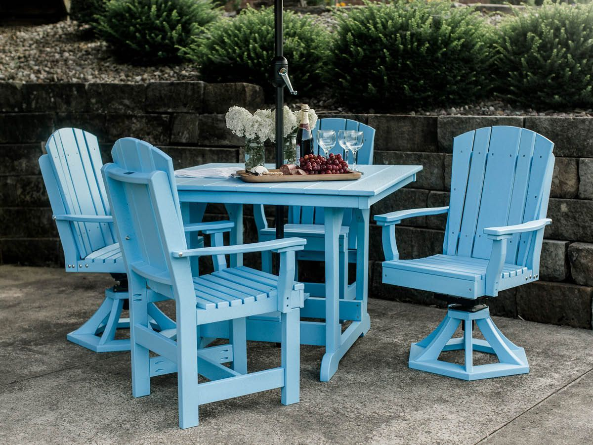 Powder Blue Outdoor Dining Set