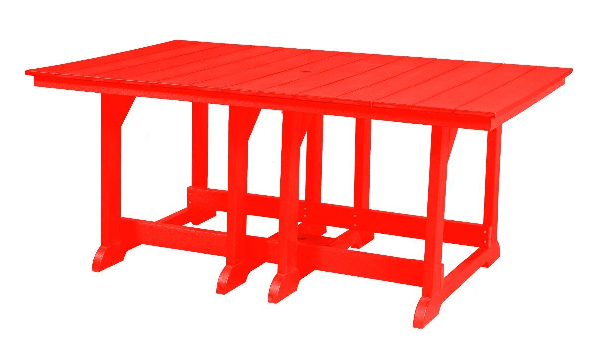 Bright Red Oristano Outdoor Dining Table