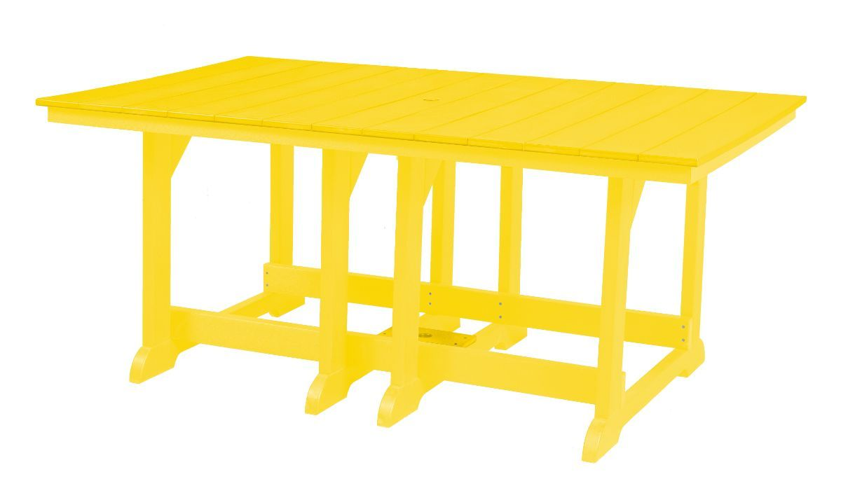 Lemon Yellow Oristano Outdoor Dining Table