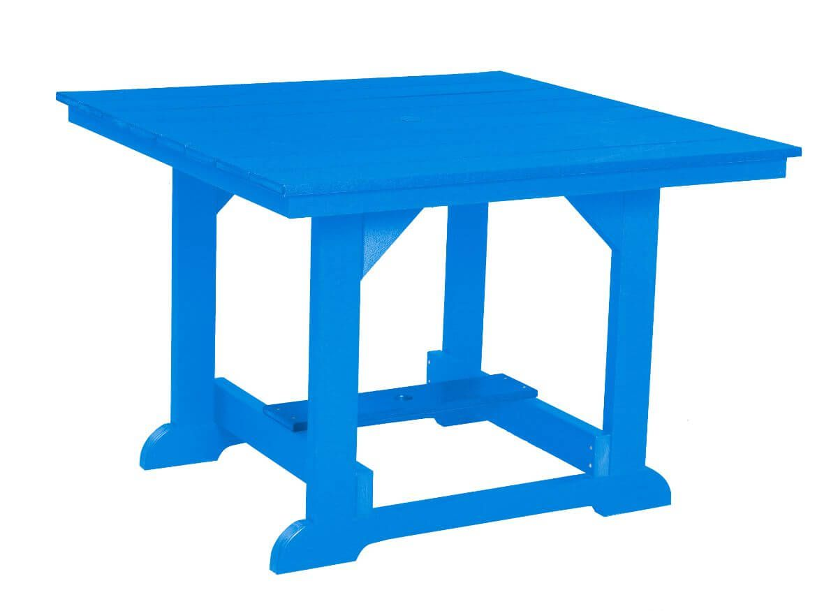 Blue Oristano Square Outdoor Dining Table