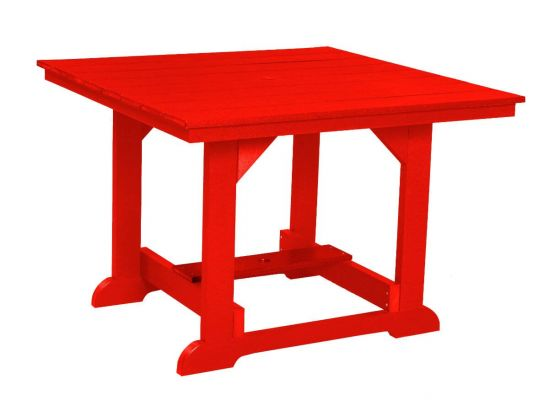 Bright Red Oristano Square Outdoor Dining Table